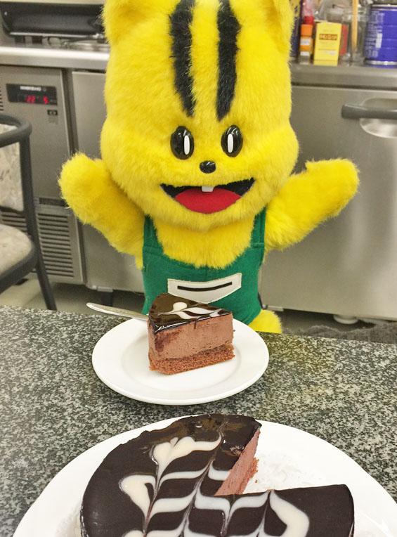 おいしいよ。チョコムースケーキ