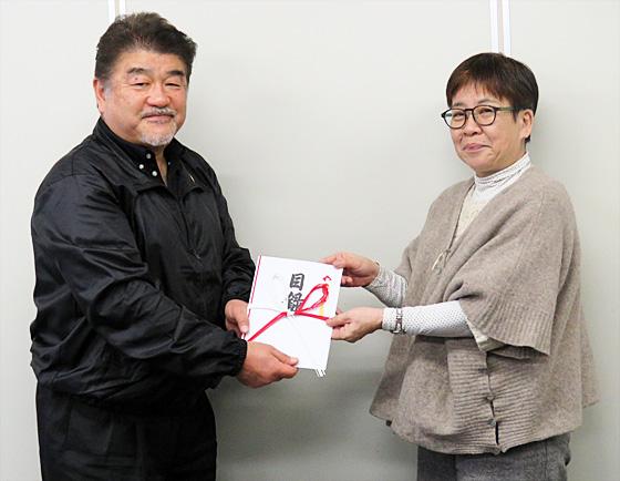小野さんと共同体代表理事の田中さん