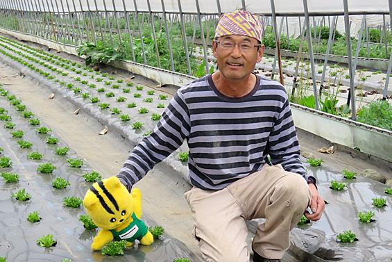「収穫はもう少し先だけど、頑張って大事に育てて、おいしい野菜をみなさんに届けます。待っててください!」